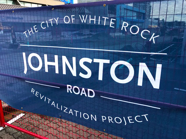 Whiterock webdesign business Johnston Road Streetscape Revitalization Project
